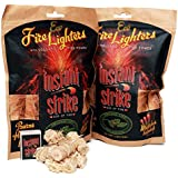 Eco-Friendly Fire Starters For Indoor And Outdoor Fire, Organic And Non-Toxic, Comfortable Packaging 20 pcs in pack (Set Of 2)
