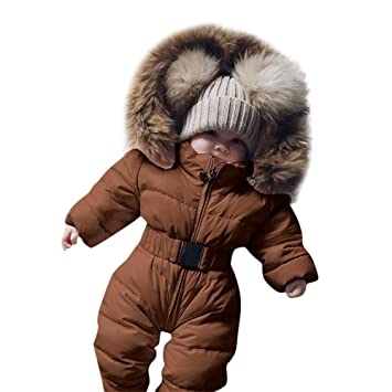 Newborn Baby Winter Thicken Cartoon Sheep Snowsuit Warm Fleece Hoodie Down Romper Infant Hooded Puffer Jacket