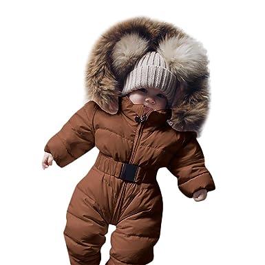 80232128a Amazon.com  VEKDONE Kid Baby Autumn Winter Romper Jacket Hooded ...