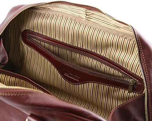 TUSCANY LEATHER - TL Voyager - Sac de voyage en cuir - Petit modèle - Marron