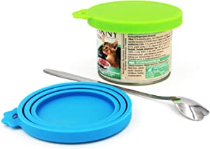 Comtim Pet Food Can Cover/Silicone Can Lids for Dog and Cat Food