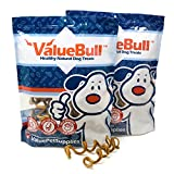 ValueBull All Natural 6 Inch Thick Curly Bully Sticks for Dogs, 50 Count