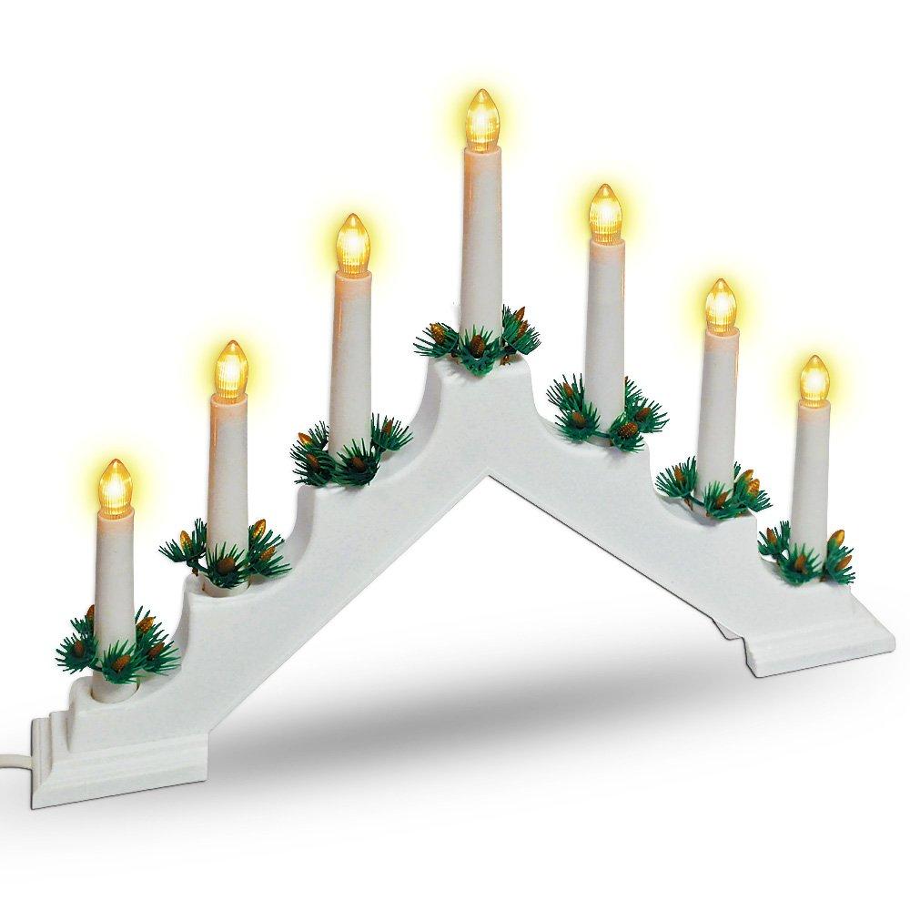 Amazon.de: Weihnachtsbogen 7 LEDs weiß - Lichterbogen Lichtbogen ...