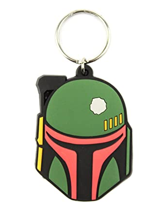 Amazon.com: Oficial de Star Wars Boba Fett Llavero: Clothing