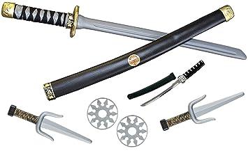 Kss Grosses Ninja Kinder Set 6 Teilig Ninja Schwert Dolch 2 Sai