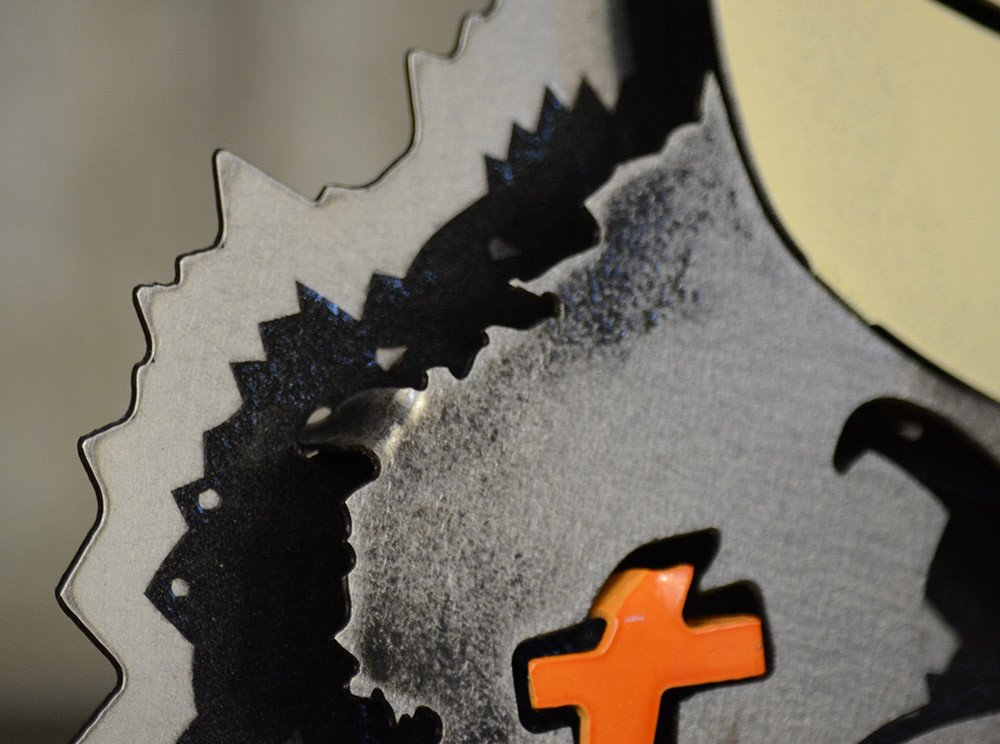 Gear New Miami Sebastian the Ibis 3D Vintage Metal College Man Cave Art, Large, Orange/Green/Grey