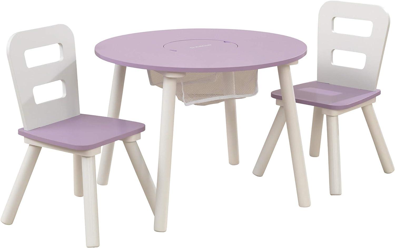 KidKraft Round Storage Table & 2 Chair Set - Lavender (20017)