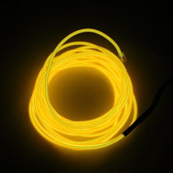 Sharplace 5 M Lumineszenz Neon LED Lichter El Draht Saite Neon ...