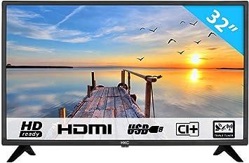 HKC 32F1D LED TV (32 Pulgadas HD TV), Ci+, HDMI+USB, Triple Tuner ...