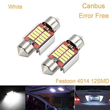 4x LED 6SMD Courtesy Interior Light Bulb Festoon Dome Map Lamp 31mm Red
