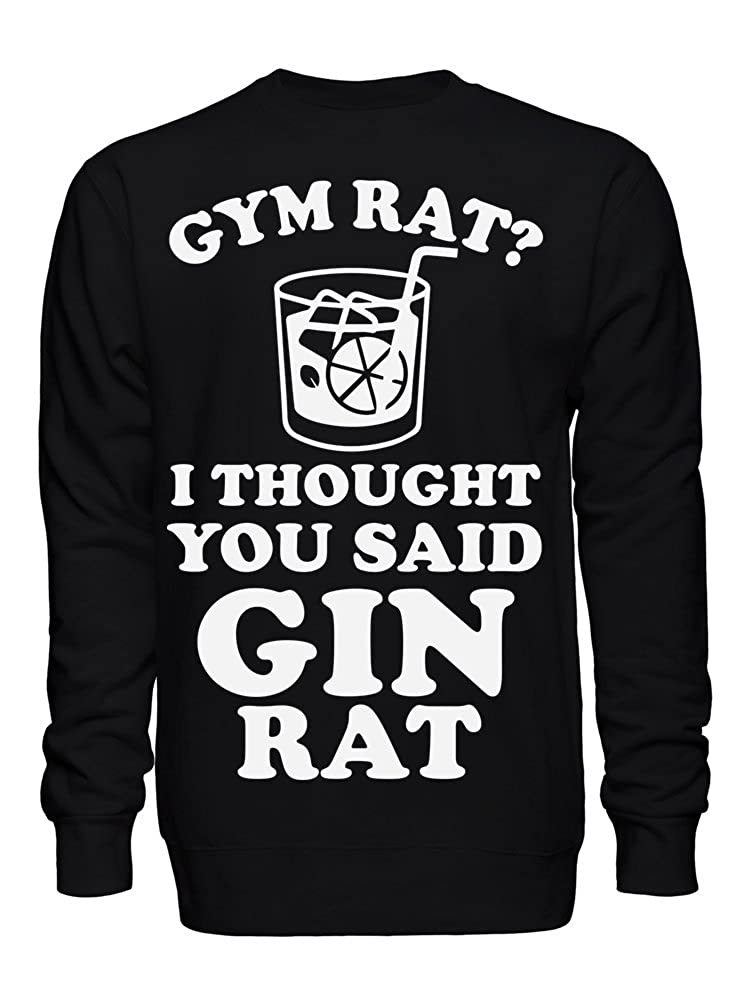 graphke Gym Rat I Thought You Say Gin Rat Unisex Crew Neck Sweatshirt