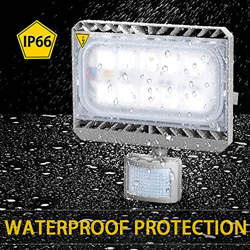 GOSUN® 50W Blanco Frío LED Foco Proyector Luz, Foco proyector con iluminación LED y PIR sensor de movimiento,36 meses garantía: Amazon.es: Iluminación