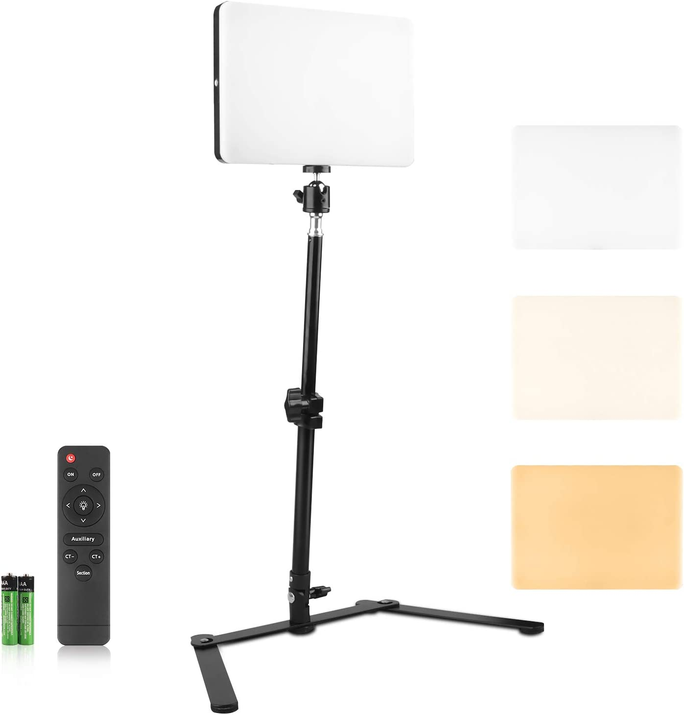 MOMIRA LED Camera Video Light with Overhead Trapezoidal Mount Remote Portable Photography Lighting Dimmable Studio Photo Lights for Shooting Vlog Filming Online Video Food Recording(MM-240)