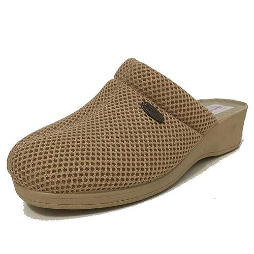 Zapatilla Estar por casa Mujer de Verano con Cuña (40, Beige): Amazon.es: Zapatos y complementos