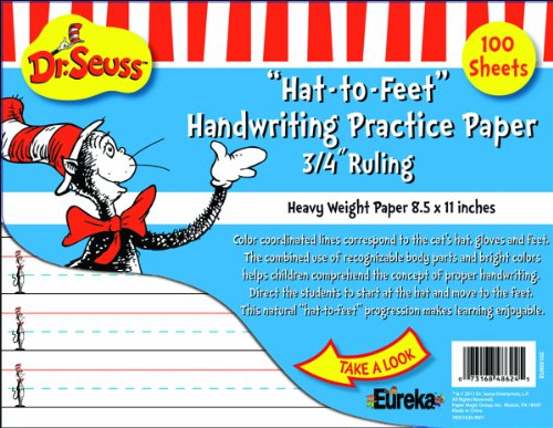 (Eureka Cat in the Hat Writing Practice Paper, 100 Sheets (805102) - DISCONTINUED by)