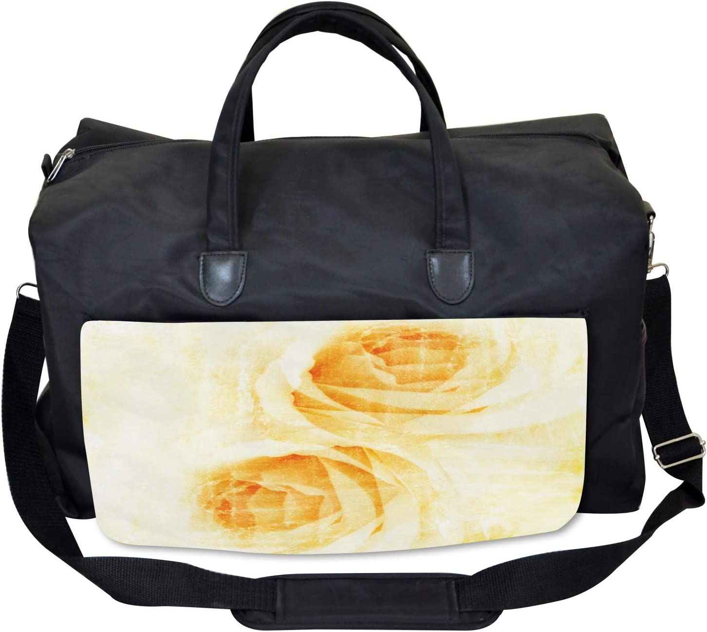 Large Weekender Carry-on Watercolor Rose Flower Ambesonne Abstract Gym Bag