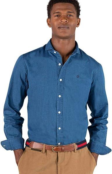 El Ganso Urban Iconic Camisa casual, Azul (Indigo 0022), Small para Hombre: Amazon.es: Ropa y accesorios