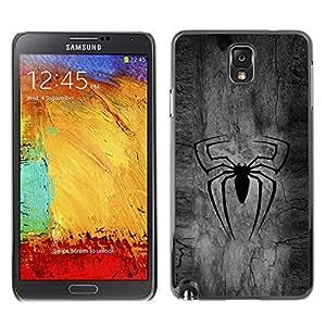 GIFT CHOICE / SmartPhone Carcasa Teléfono móvil Funda de protección Duro Caso Case para Samsung Note 3 N9000 /BLACK SPIDER SUPERHERO/
