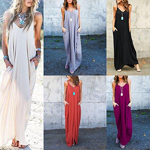 Boho Femmes Loisir Femme Ete Robes Robe Robe Surdimensionn Soire Manches Violet Robes De Tunique Yying Plage Sangle Maxi Sans Dress Longue XxEZBqnq
