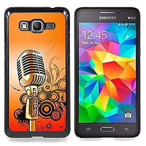Eason Shop / Premium SLIM PC / Aliminium Casa Carcasa Funda Case Bandera Cover - Micrófono Música Canto retro - For Samsung Galaxy Grand Prime G530H / DS