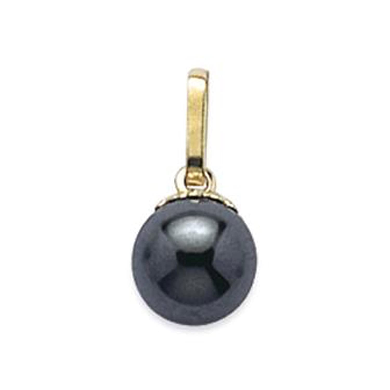 Pendentif Plaqué Or 18 carats et Hématite - Neuf BigBangBijoux 24110592s