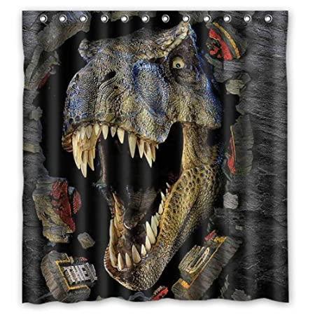 A.M Aileen Custom Cartoon Animals Dinosaur Shower Curtain Bath Decorations  Bathroom Decor Sets With Hooks In