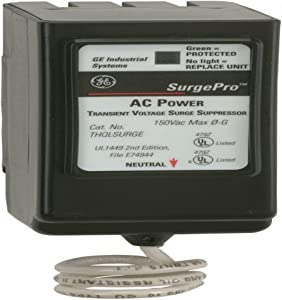 GE THQLSURGE 1-Phase 1 Inch Plug-in Surge Protector 120-240 Volt Surgepro BuyLog