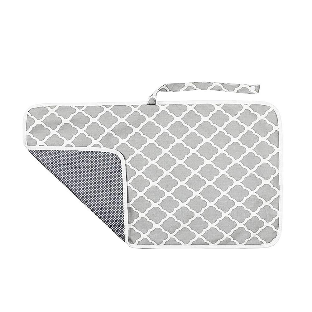Changing Pad Geometry Printed Diaper Change Pad Diaper Change Pad Portable Waterproof Diaper Travel Changing Station for Newborn and Toddler Grey 1PC