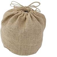 Baoblaze Vintage Hessian Burlap Jute Bag Wedding Gift Decor 20x18cm
