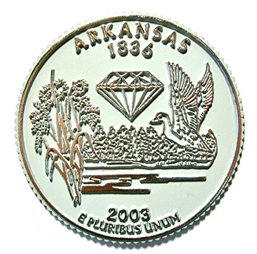Arkansas State Quarter Fridge Magnet