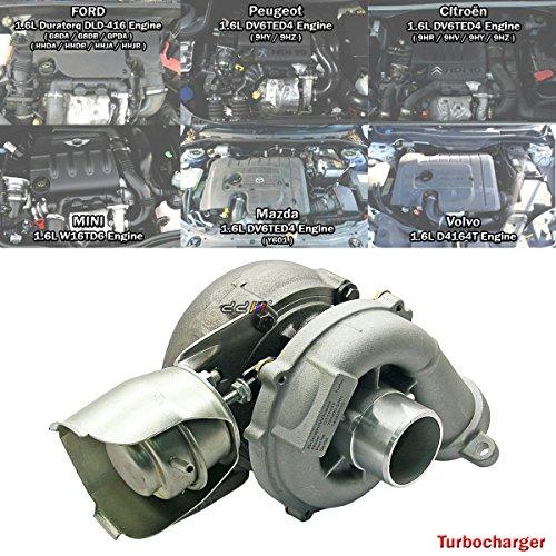 Turbo Turbocharger For Citroen C2 C3 C4 Picasso C5 DV6TED4 GT1554V 753420-5004