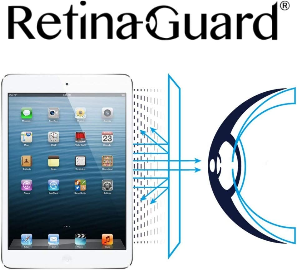 RetinaGuard Anti UV, Anti Blue Light Screen Protector for iPad mini, iPad mini 2, iPad mini 3,SGS and Intertek Tested, Blocks Excessive Harmful Blue Light, Reduce Eye Fatigue and Eye Strain