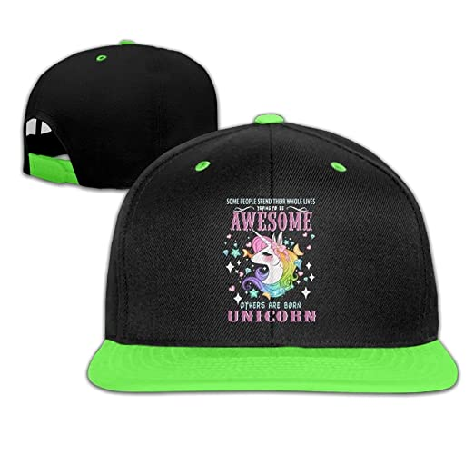 94e36d1f2e3 Amazon.com  Baseball Cap Hip Hop Hat Awesome Others are Born Unicorn ...
