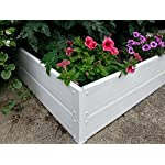 "Handy Bed 4 x 4 Stack-able, White, Vinyl, Raised Garden Bed 11 Actual Dimensions: Outer (47.25"" x 47.25"" x 6.00"") Inner (45.00"" x 45.00"" x 6.00"") Stack-able, Relocatable, Paint-able Simple design makes assembly easy"