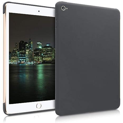 kwmobile Funda Inteligente para Apple iPad Mini 4 - Carcasa Trasera de [Silicona] para Tab - Case [Negro Mate]