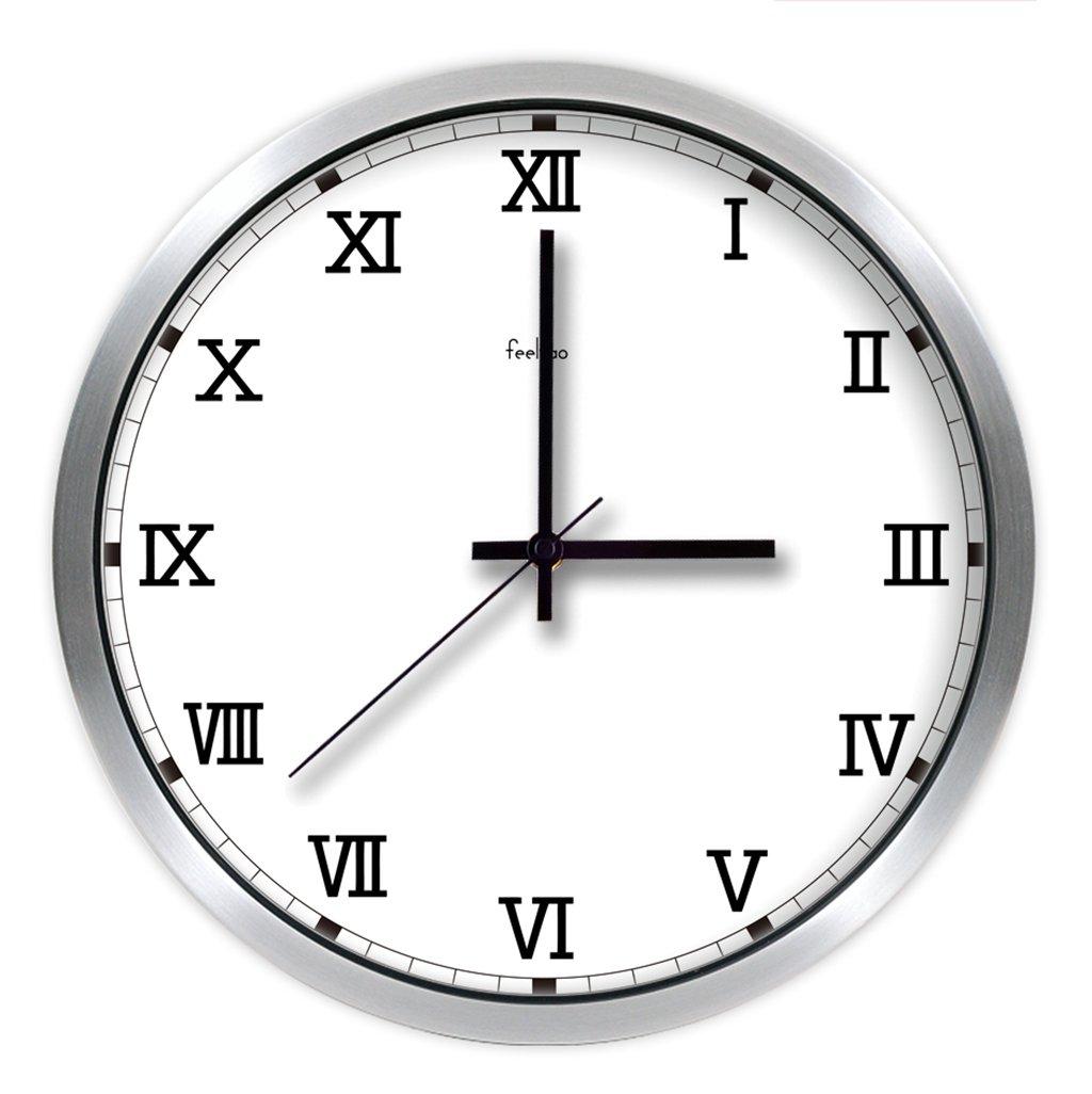 レトロシンプルな現代ローマンデジタルウォールクロックラージリビングルームウォールチャートサイレントクォーツ時計 (色 : B, サイズ さいず : 12inch) B07F1CMN6L 12inch|B B 12inch