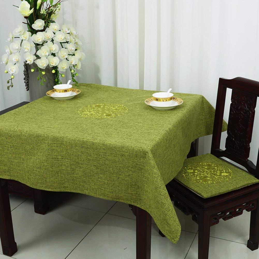 QYM テーブルクロス、テーブルクロス、亜麻、テーブルクロス (Color : D, サイズ : 130x130cm(51x51inch))   B07S9PN13L