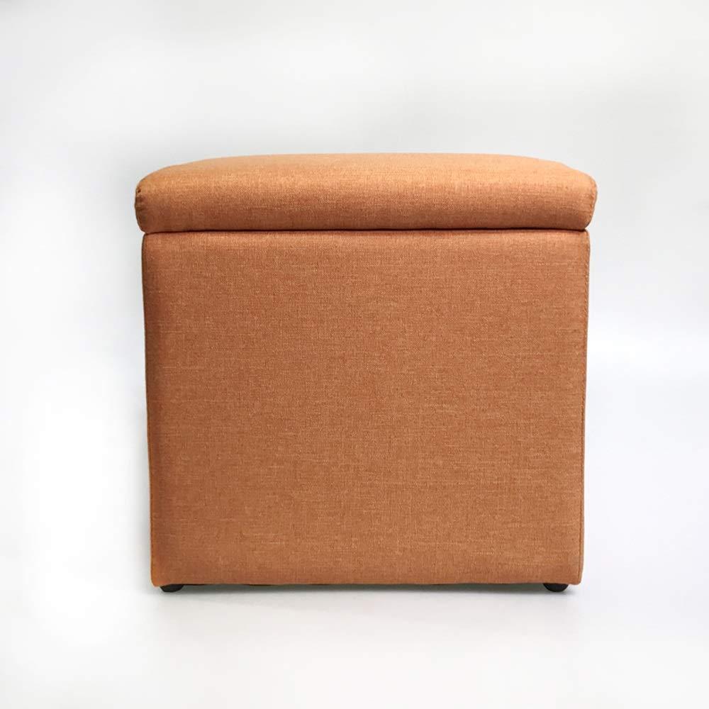 Orange 37cm37cm Tabouret de stockage de grande capacité, Tabouret de rangeHommest en coton et coton multi-fonction. Boîte de rangeHommest pour coffre simple et créative pouvant s'asseoir.