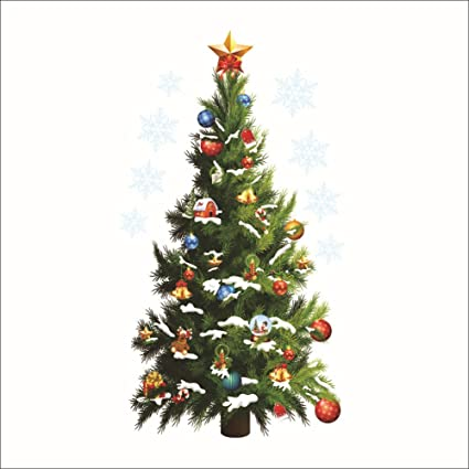 Amazoncom DaGou Christmas tree Wall Stickers Wall Murals