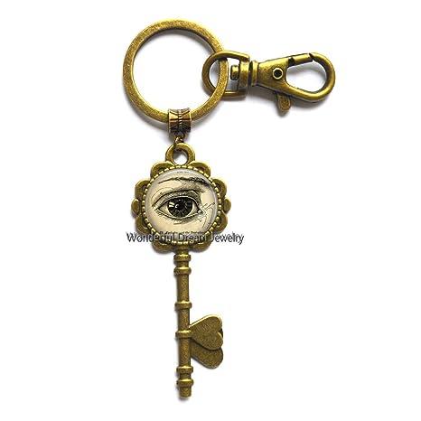 Amazon.com: Llavero anatómico con llavero de ojo y ojo ...