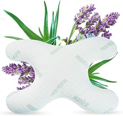 und Aloe Vera-Extrakt 2 Bez/üge mit Lavendel Lelekka Mantra Bauchschl/äferkissen Schlafkissen gegen Schlaffalten inkl