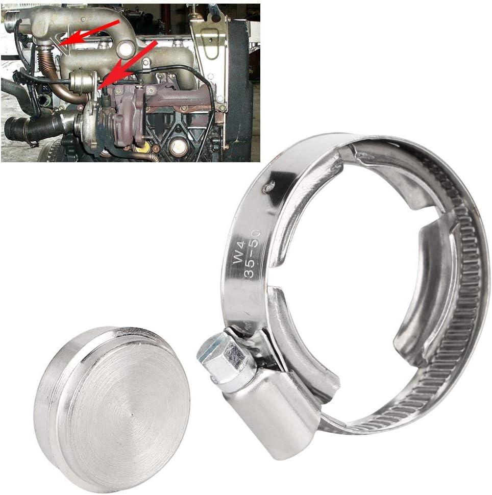 kit di tappi piastra di blocco valvola di scarico valvola di scarico gas in alluminio CNC adatta per Megane 1.9 TDI Piastra di chiusura valvola