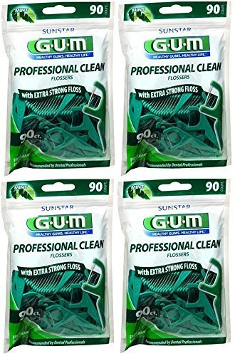 - Gum Professional Clean Flossers, Fresh Mint 90 ea (Pack of 4)