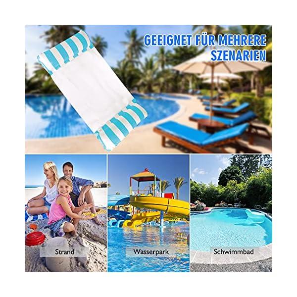 61X LAOpjpS J TOHLO Aufblasbare Wasserhängematte Schwimmbrett 4in1 Wasserhängematte Lounge Sessel Pool Lounge Luftmatratze Pool…