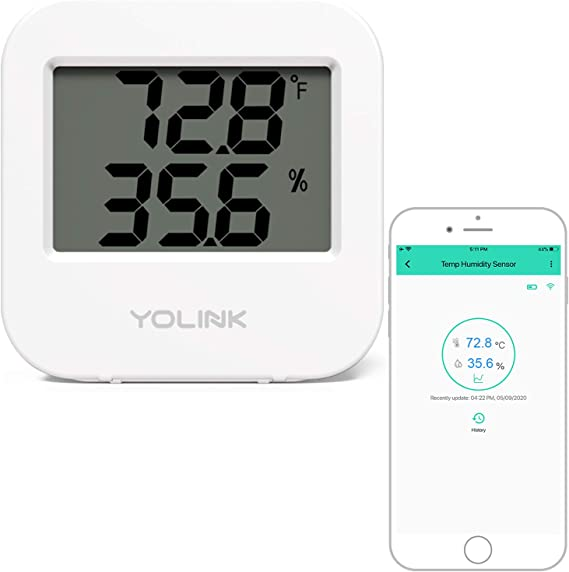 Accurate Temperature Humidity Monitor for Freezer Refrigerator Greenhouse Basement Home Hub Required MOCREO Indoor Wireless Thermometer Hygrometer Sensor Accessories