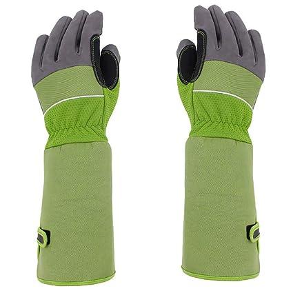 Goatskin Leather Thorn Proof Bramble Gloves Hense Long Sleeve Gardening Gaunlets