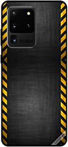 For Samsung S20 Ultra Case Yellow Road Strips Pattern