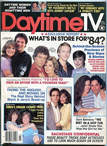 Daytime TV Journal March 1984- Liz Chandler- Marla Adams- Sam Behrens