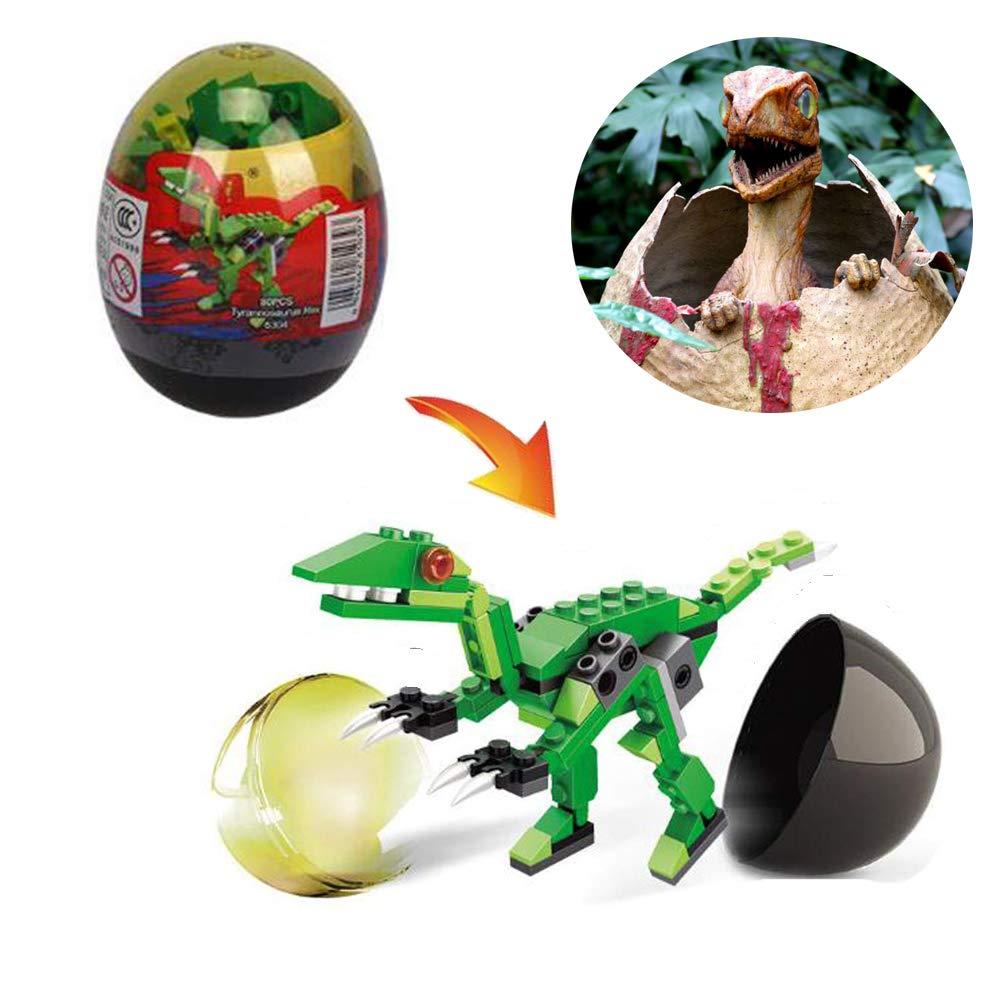 6 Pack CRODER Dinosaur Building Blocks in Easter Eggs Easter Gifts for Easter Basket