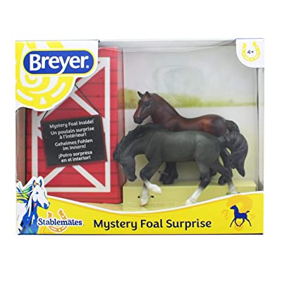 Breyer Mystery Foal Surprise Horse Box Toy | 1:32 Scale | Model #5938: Toys & Games